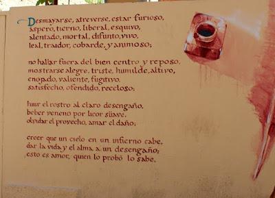 Poema de Lope de Vega en un muro de Zamora