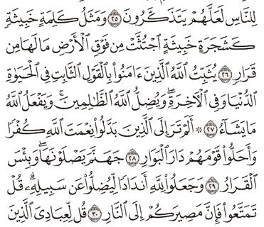 Tafsir Surat Ibrahim Ayat 31, 32, 33, 34, 35