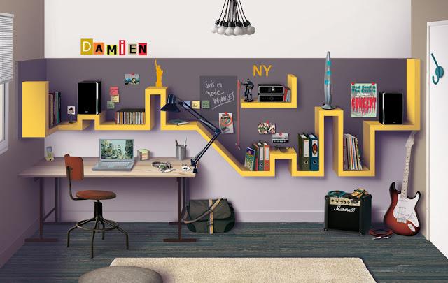 Resultado de imagem para ideias de decoração de quarto teen para meninos