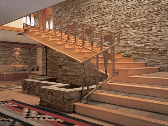 Rumah batu alam modern