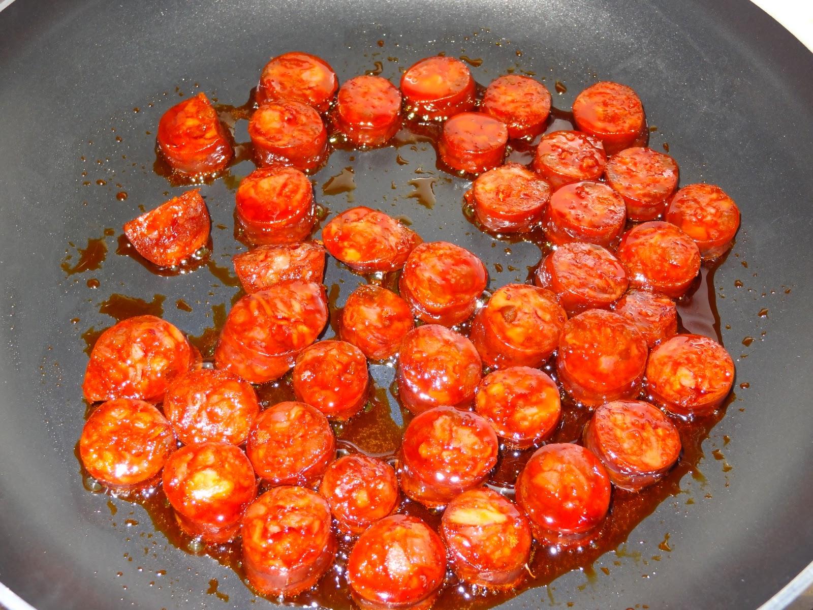 The Potato Chorizo Pea And Red Wine Risotto