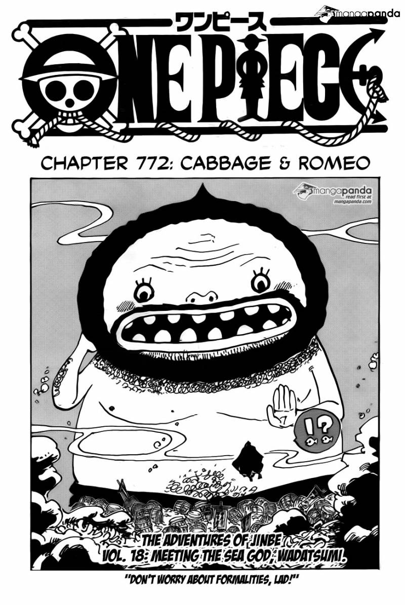 One Piece Ch 772: Cabbage & Romeo