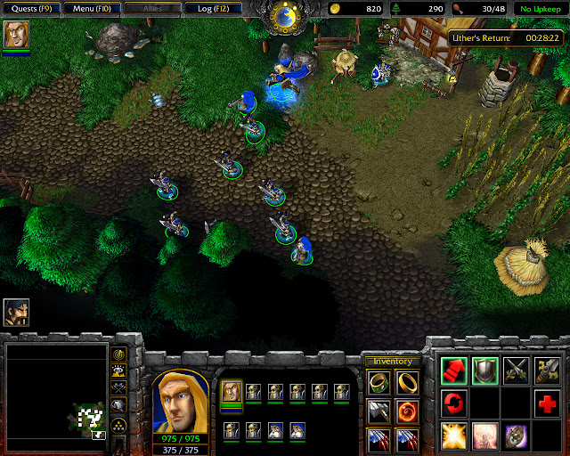 March of the Scourge Mission 7   Inventory Screenshot   Warcraft 3: Reign of Chaos
