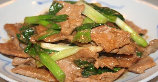 Stir Fry Pork And Green Onions Recipe