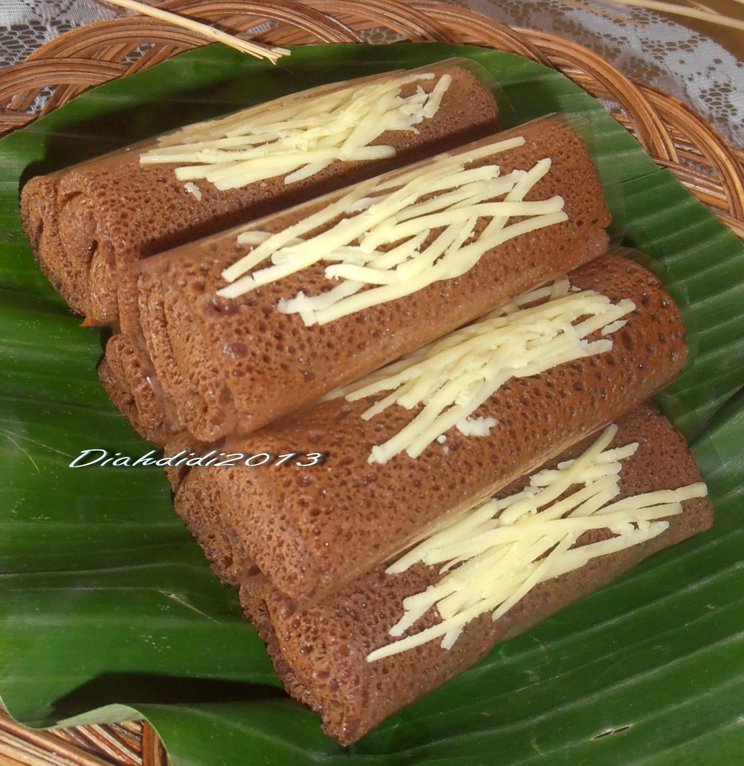 Diah Didis Kitchen Dadar Gulung Coklat Isi Pisang