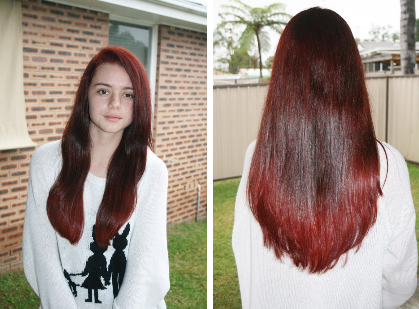 Hair dye tutorial dark to light shades of red now thats peachy hair dye tutorial dark to light shades of red solutioingenieria Gallery