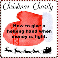 A mitten with the words how to give a helping hand when money is tight across it.