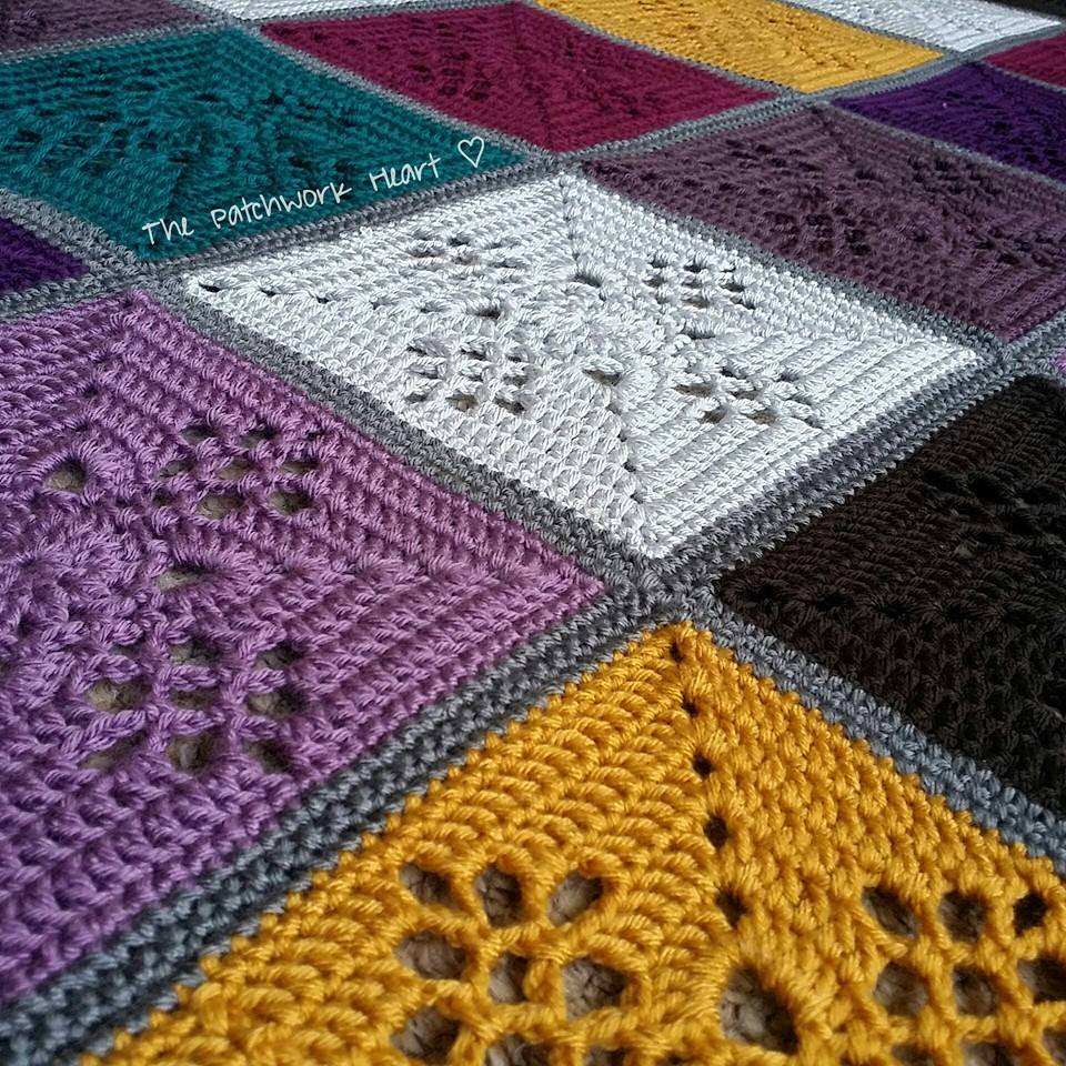 Patchwork Throw Free Crochet Pattern
