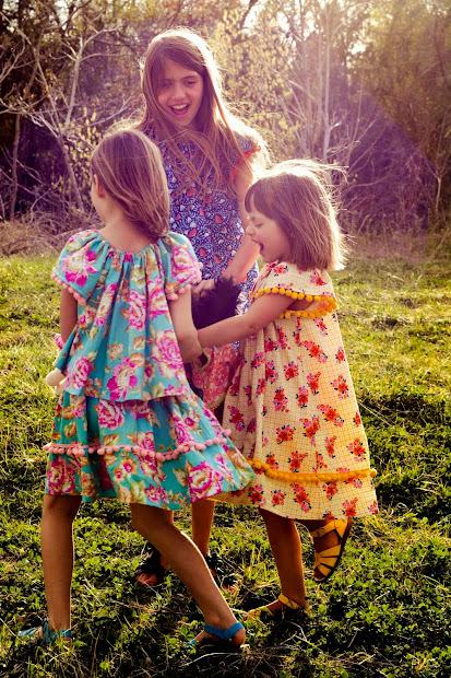 Aesthetic Nest Sewing Easter Angel Sleeve Dresses