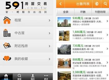 591房屋交易 APP / APK 下載,售屋、租屋、店面頂讓、新屋中古屋出售訊息,Android 版