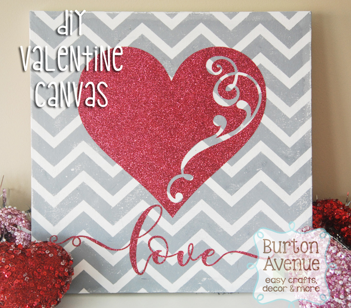 Diy Valentine Canvas For Silhouette And Cricut And Free