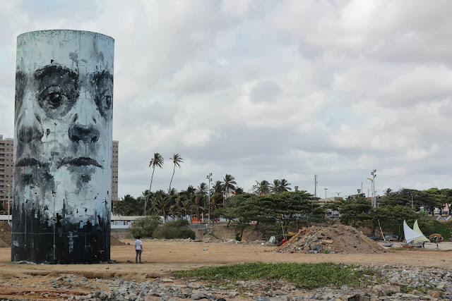 Street Art By Borondo For The Festival Concreto On The Beach Of Fortaleza, Brazil. 6