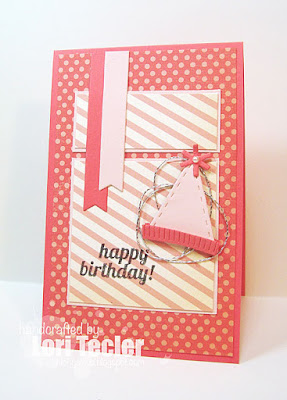 Happy Birthday card-designed by Lori Tecler/Inking Aloud-stamps from Lil' Inker Designs
