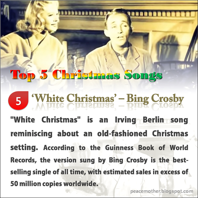 about an old fashioned christmas setting according to the guinness book of world records the version sung by bing crosby is the best selling single of - Best Selling Christmas Song