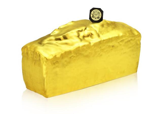 Le Chameau Bleu - Bûche  Mariage Frères Patisserie - christmas Golden Cake