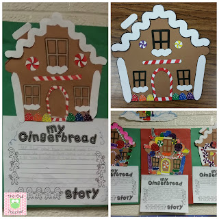 Create your own gingerbread houses and write your own gingerbread stories for an engaging holiday activity with this freebie!