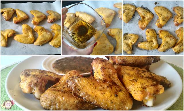 Alitas de pollo al horno receta
