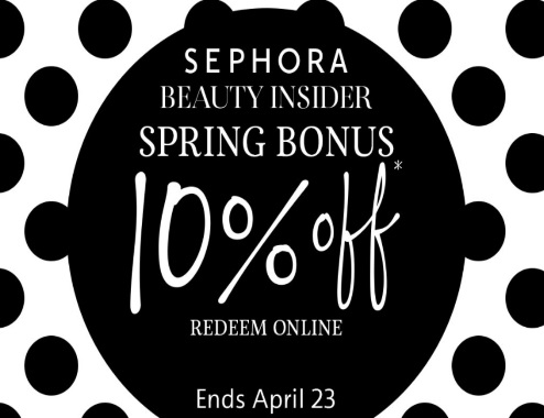 Sephora 10% Off Spring Bonus Shopping Event