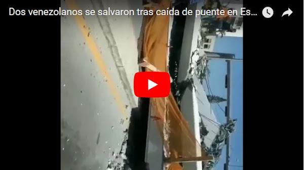 Dos venezolanos se salvaron tras caída de puente en Estados Unidos