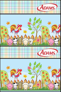 Baby Farm in Light Blue Free Printable Gum Adams Labels.