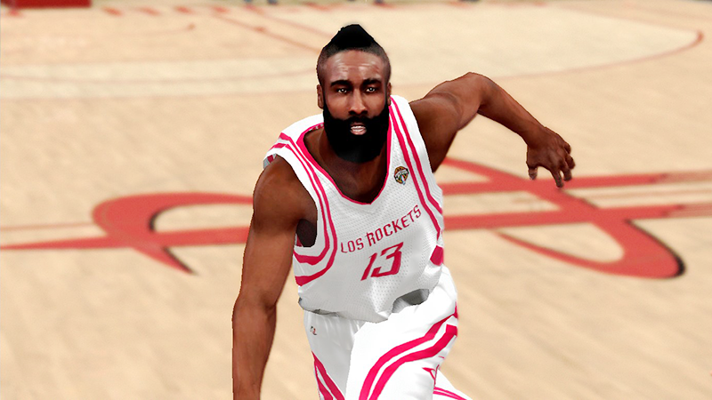 NBA 2K14 James Harden Next-Gen Face Mod