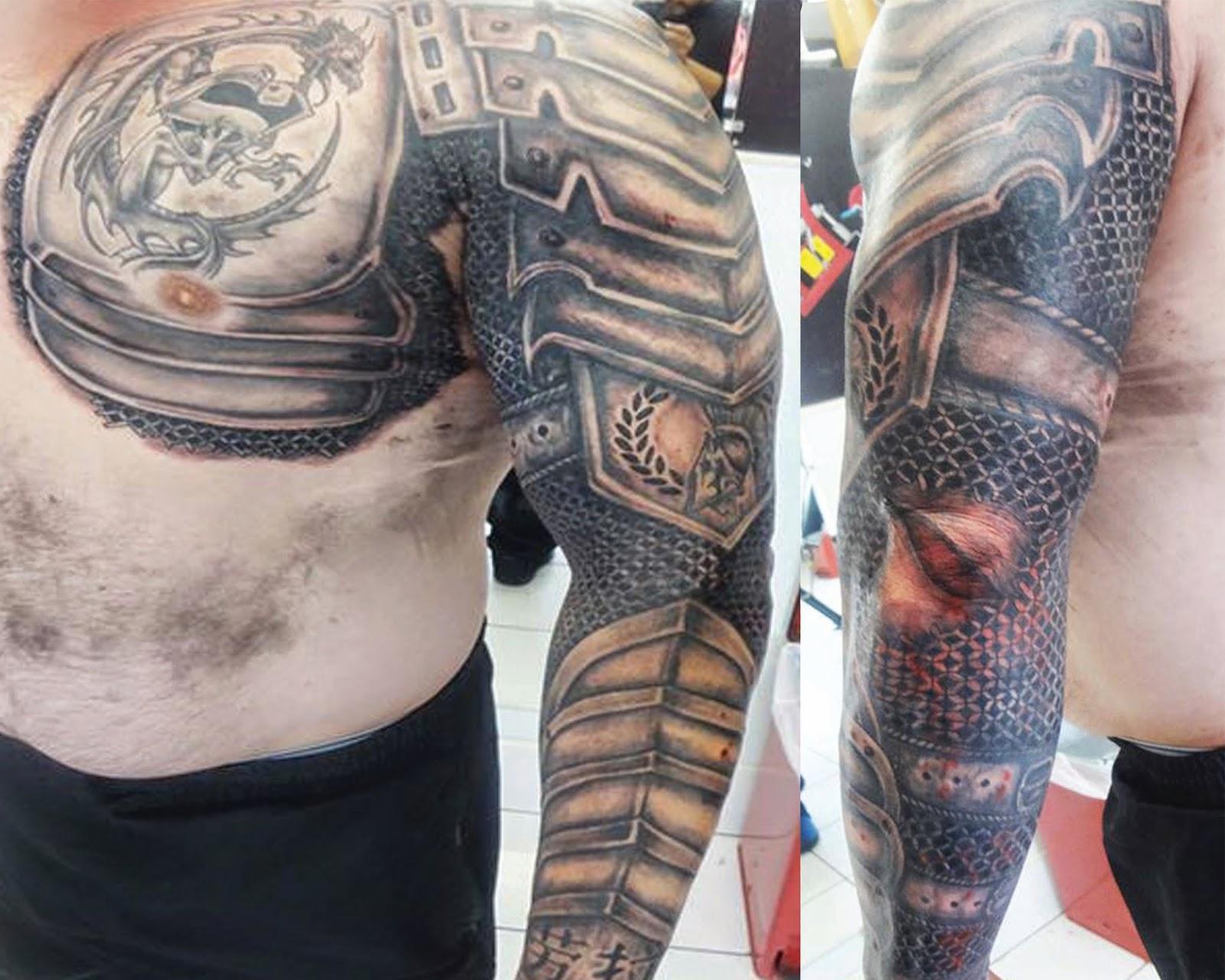 Dragon Armor Tattoos Tattoos Gallery Dragon shoulder armor tattoo for men. dragon armor tattoos tattoos gallery