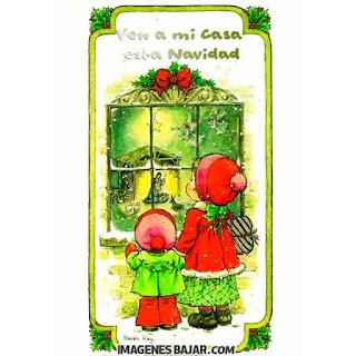Tarjetita con colores navideños y bonito mensaje