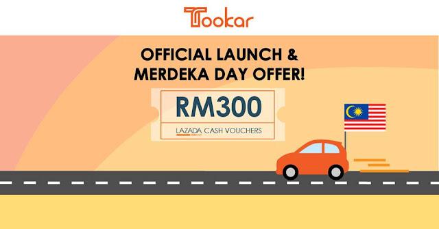 Percuma Voucher Lazada RM300 dari Tookar