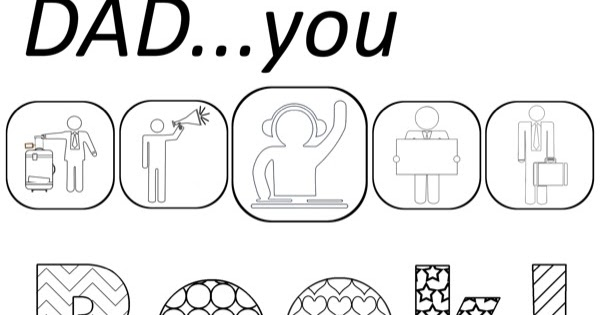 Free Coloring Pages: Printable Father's Day Coloring Pages