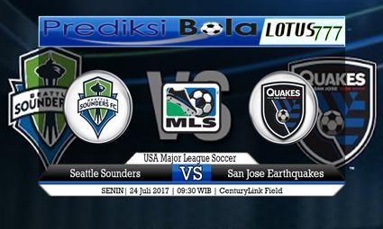 Prediksi Pertandingan antara Seattle Sounders vs San Jose Earthquakes Tanggal 24 Juli 2017