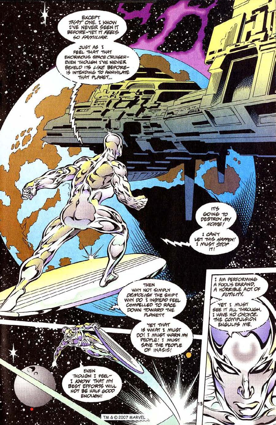 Read online Silver Surfer (1987) comic -  Issue #111 - 17