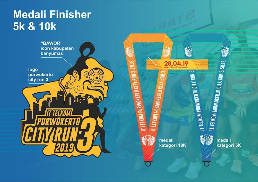 medali IT Telkom Purwokerto City Run 3 2019