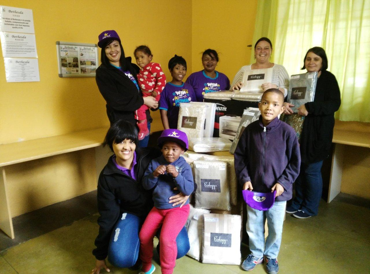 Staff and children at Bethesda Medical and Relief Services are thankful for another donation from Hollywoodbets George