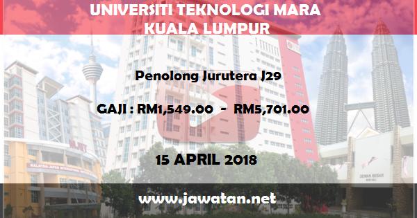 Job in Universiti Teknologi Malaysia (UTM) Kuala Lumpur (15 April 2018)