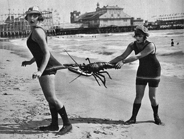 Vintage snapshots of summer fun on the beach