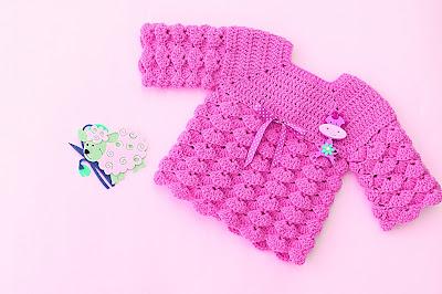 4 - Imagen chambrita de abanicos en relieve a crochet. Majovel crochet