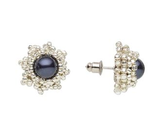 5 Beaded Stud Earrings Tutorials To Try The Beading Gem