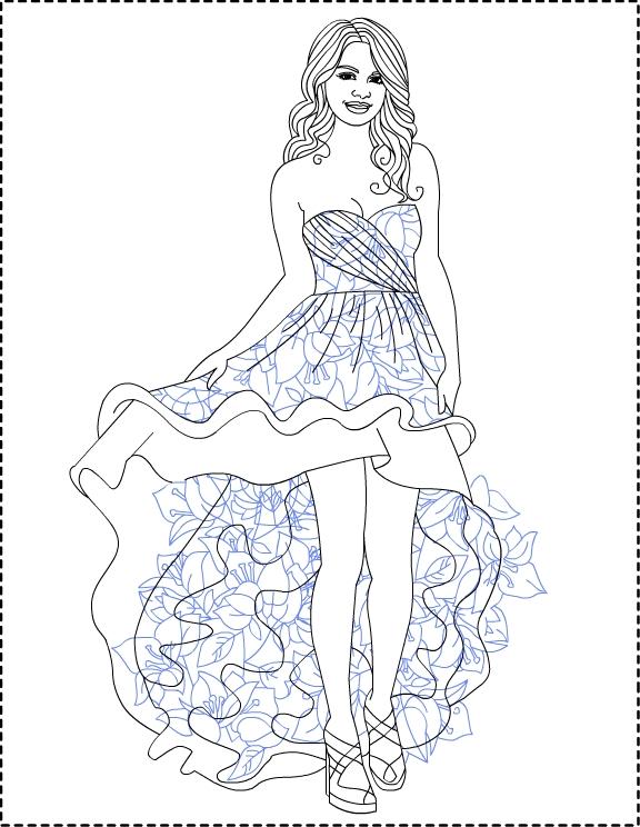 Desenhos da selena gomez para colorir for Selena gomez coloring page