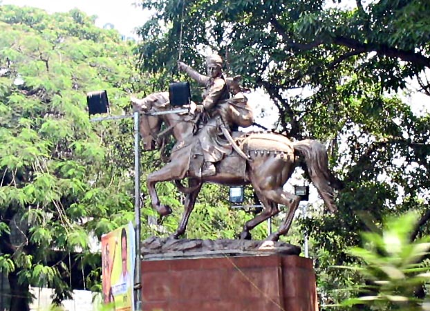 Stock Pictures Rani of Jhansi Statue in Pune