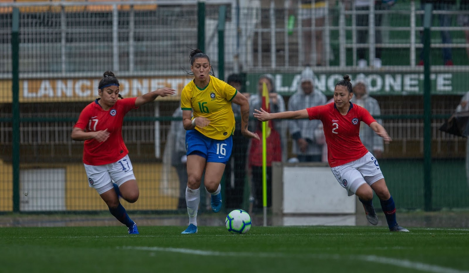 Brasil y Chile en Torneio Uber Internacional de Futebol Feminino de Seleções, 1 de septiembre de 2019