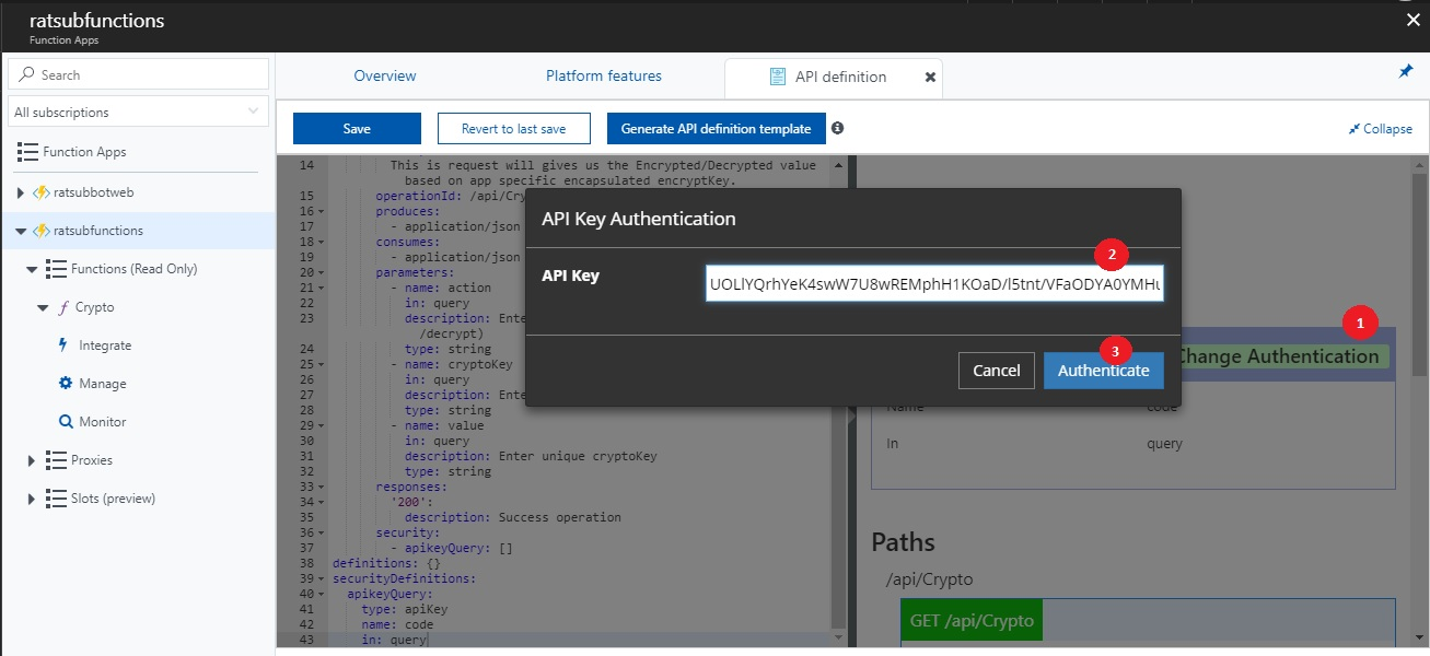 Create swagger api endpoint for Azure functions