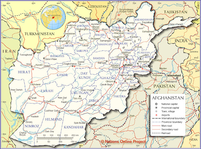 Mapas do Afeganistão | Maps of Afghanistan