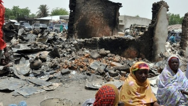 boko haram burn down entire village adamawa