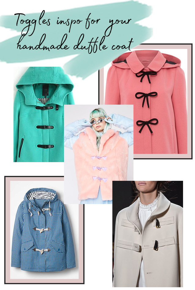 Toggles inspiration for Eden coat or jacket
