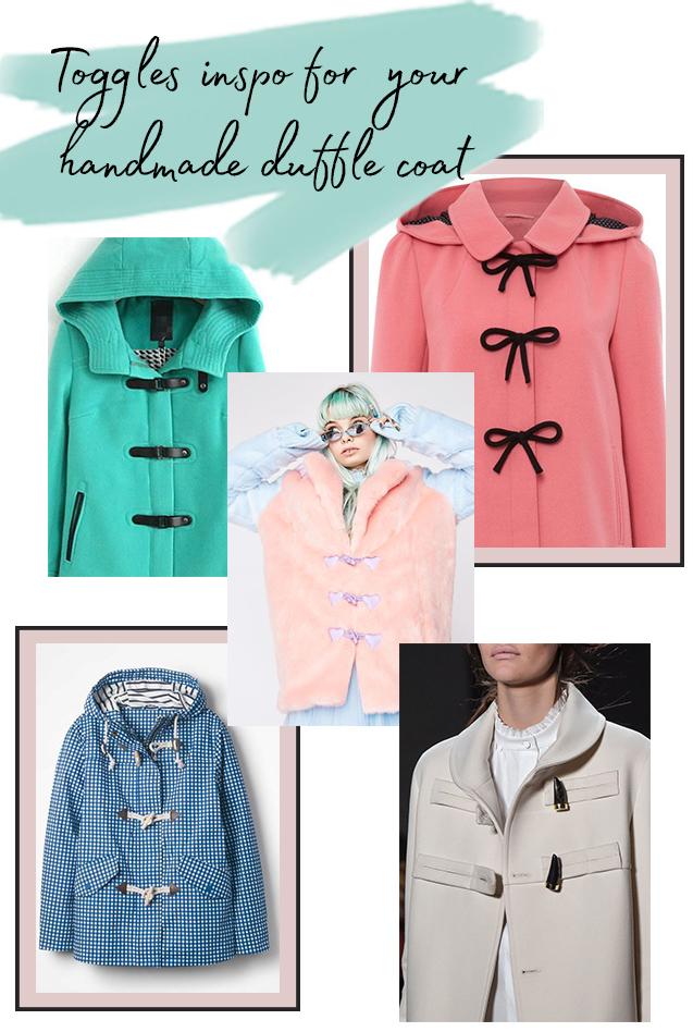 Toggles inspiration for Eden coat or jacket