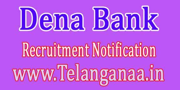 Dena Bank Recruitment Notification 2016
