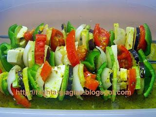 Σουβλάκια Λαχανικών - από «Τα φαγητά της γιαγιάς»