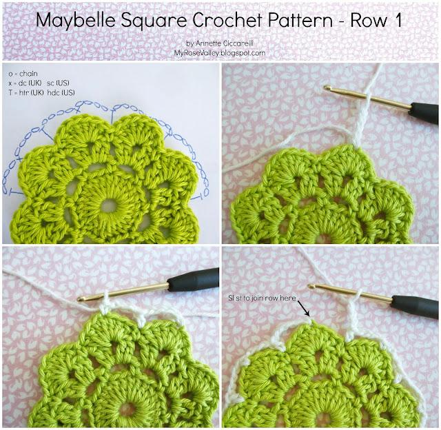 Maybelle Crochet Flower Free Pattern