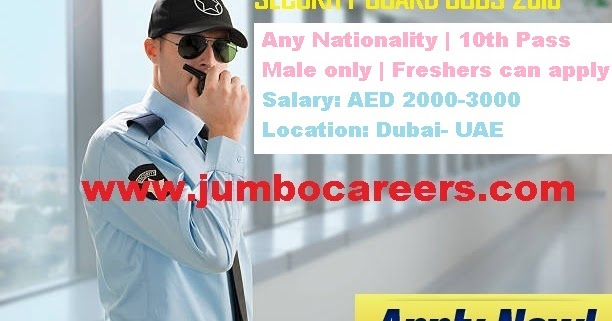Latest 10th Pass Security Guards Job Openings For Dubai