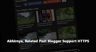Akhirnya, Related Post Blogger Support HTTPS